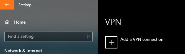 Mobile Connect Windows Connect add VPN
